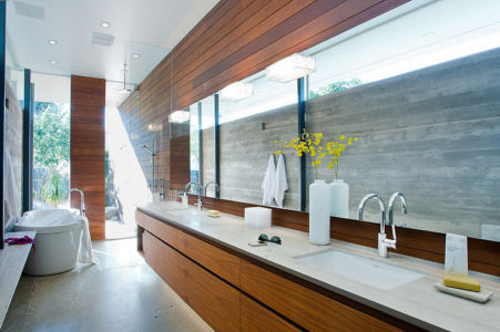 salle de bains parentale - F-5 Residence par Studio AR+D Architects - Indian Wells, Usa