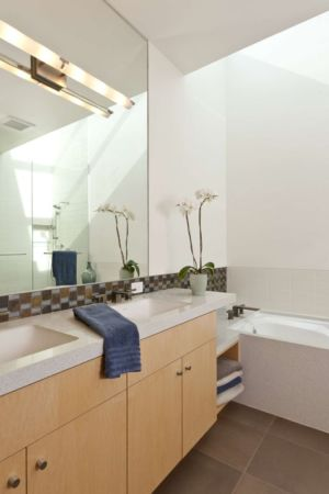 salle de bains - sinbad-creek par Swatt Miers Architects - Sunol, USA