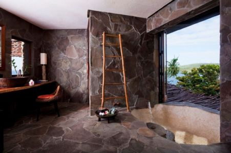 salle de bains traditionnelle - Laucana Island - Suva, îles Fidji