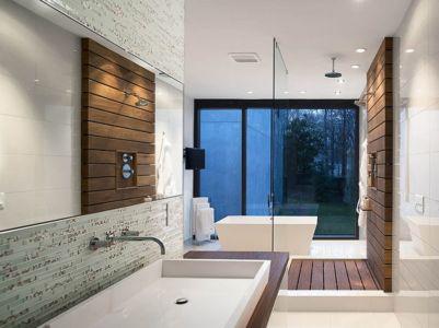 salle de bains - wing-roofed home par Staffan Svenson architect - Atlanta, Usa