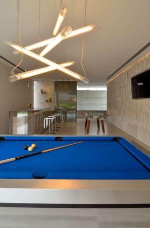 salle de billard - JRB House par Reims Arquitectura - Santa Domingo, Mexique