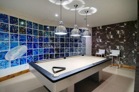 salle de billard - chalet contemporain Thunderhead, Colorado, Usa