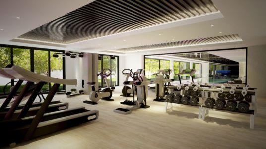 salle de gym - luxueuse villa par Ark Architects - San Roque, Espagne