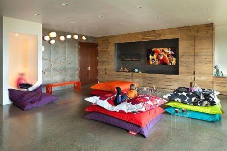 salle de jeux - Contemporary Western par Hoyt Architects & CTA Group - Usa