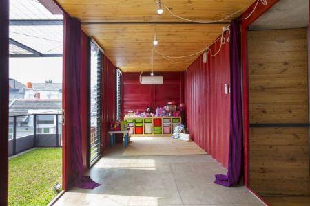 salle de loisirs - Container-Urban par Atelier Riri - Bekasi, Indonesie