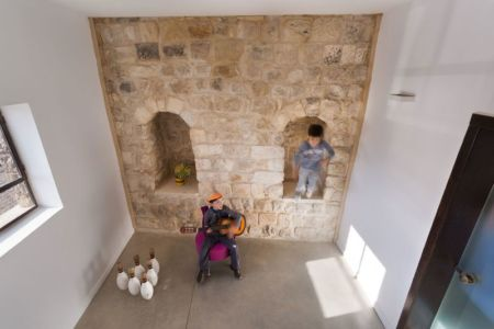 salle de musique - Stone-House par Henkin Shavit Architecture & Design - Safed, Israël