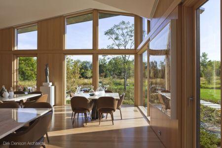 salle de séjour - Illinois residence par Dirk Denison architects - Usa