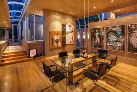 salle de séjour - villa contemporaine en bois par Daniel Evan White - Saanich, Canada
