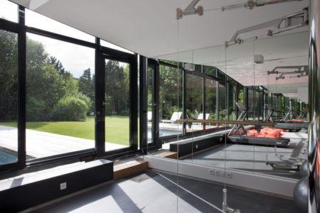 salle de sport - Rénovation Maison V - Olivier Chabaud Architecte - France