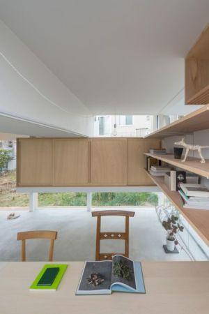 salle lecture & bureau - House-Toyonaka par Tato Architects - Toyonaka, Japon