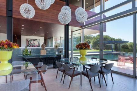 salle séjour - Vidalakis-Residence par Swatt Miers Architects - Californie, USA