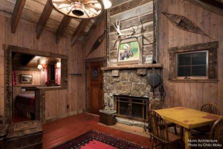 salle séjour & cheminée - Camp 88 par Munn Architecture - Colorado, USA