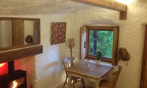 salle séjour & cheminée - The-Rockhouse-Retreat - Worcestershire, Angleterre