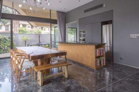 salle séjour & cuisine - Trevose-House par Ad-Lab - Singapour