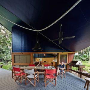 salle séjour - house-tropical par m3architecture - Queensland - Australie