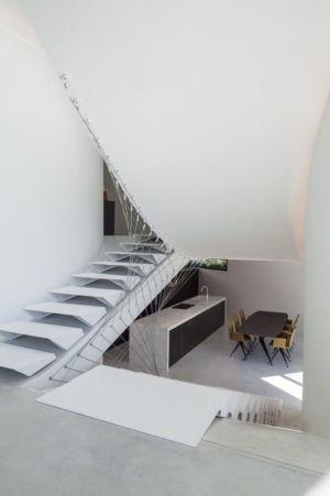 salle séjour & îlot cuisine - Villa-MQ par Office O architects - Belgique