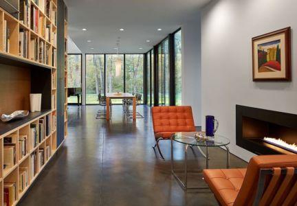 salle séjour & mini salon repos - Hills-House par Robert M. Gurney - Maryland, USA