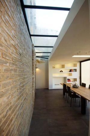salle séjour & plafond vitré - Recupero-casa par Rocco Valentini - Chieti, Italie