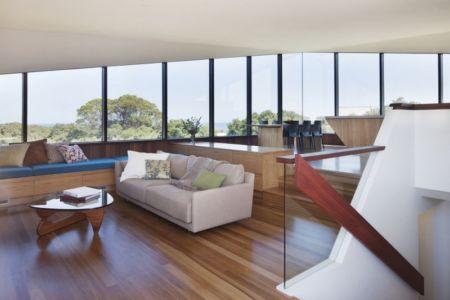 salon - Aireys House par Byrne Architects -  Aireys Inlet, Australie