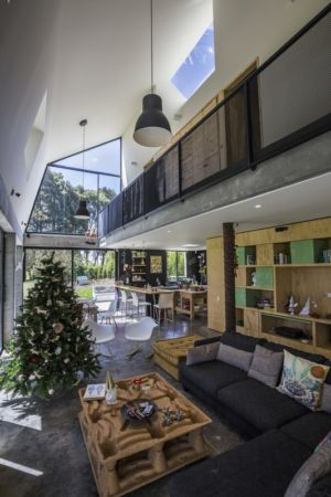 salon - BO House par Plan B Arquitectos - Colombie