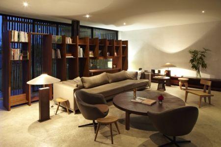 salon - Bambou pavillion par Koffi Diabat architectes - Assinie-Mafia, Côte d'Ivoire
