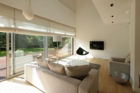 salon - Black Cube House par KameleonLab - Pologne