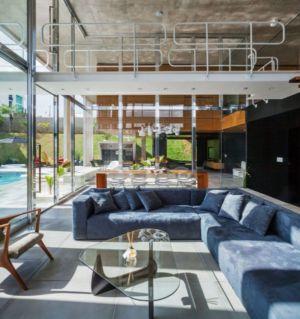 salon - Botucatu-House par FGMF Arquitetos - Botucatu, Brésil