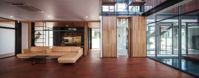 salon - Bridge-House par Junsekino Architects And Design - Bangkok, Thaïlande