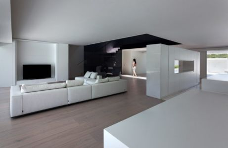 salon - Casa Balint par Fran Silvestre Arquitectos - Valence, Espagne