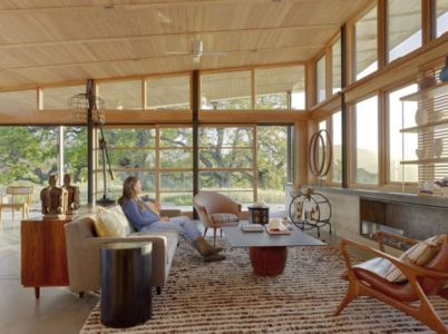 salon - Caterpillar- House par Feldman Architecture - Californie, USA