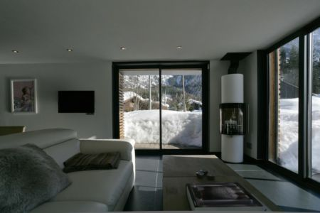 salon - Chalet Piolet par Chevallier Architectes - Chamonix, France