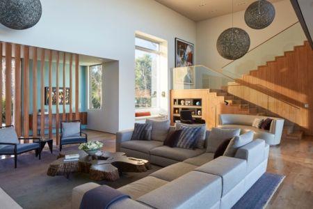 salon - Chatauqua Residence par Studio William Hefner - Californie, Usa
