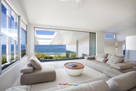 salon - Coolum Bays House par Aboda Design Group - Coolum Beach, Australie - photo Paul Smith