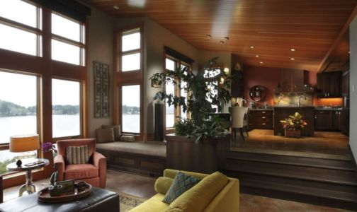 salon - Devil's Lake Home par Nathan Good Architects - Lincoln , United States