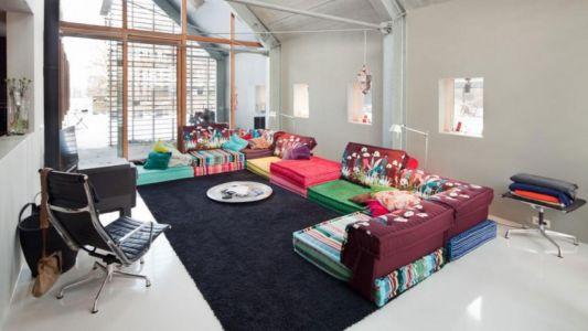 salon - Donderen Barnhouse par aatvos - Donderen, Pays-Bas