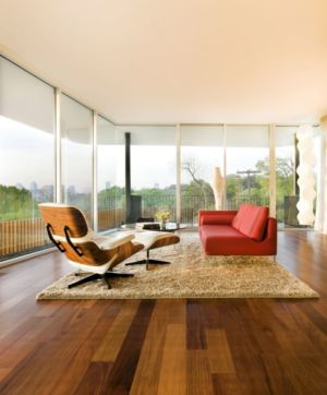 salon - East Windsor Residence par Alterstudio - Austin, Usa - Photo Paul Finkel