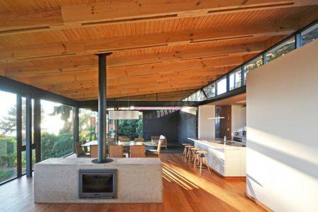 salon Etage - House Cs par Alvaro Arancibia - Cachagua, Chili