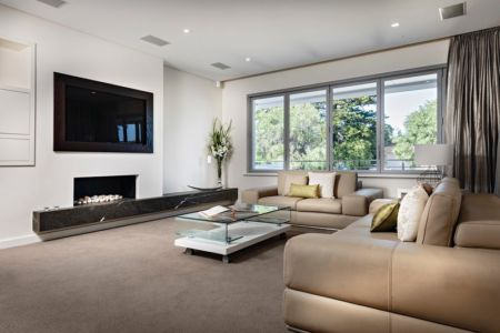 salon Etage - cottesloe-residence par Custom-Homes - Perth, Australie