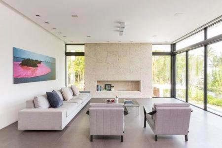 salon - Hucker Residence par Strang - Miami, USA