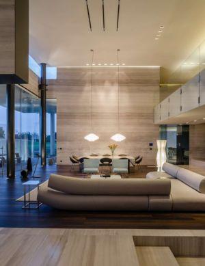salon - JRB House par Reims Arquitectura - Santa Domingo, Mexique