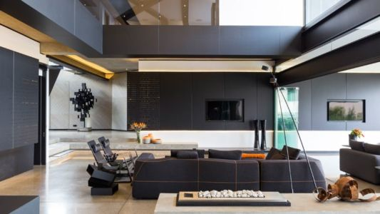salon - Kloof-Road-House par Nico van der Meulen Architects - Johannesburg, Afrique du Sud