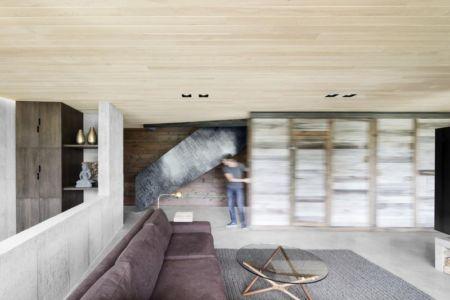 salon - La-Heronniere par Alain Carle Architecte - Québec, Canada