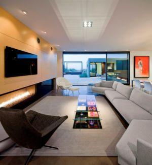 salon - Levin Residence par Ibarra Rosano Design Architects - Marana, Usa
