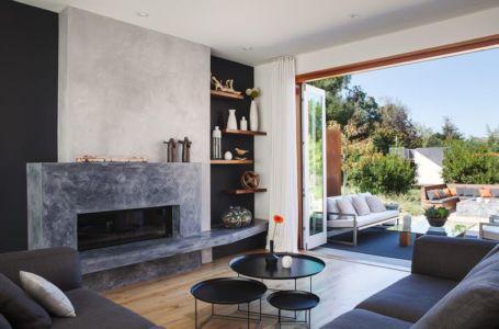 salon - Los-Altos-House Dotter Solfjeld Architecture - Los Atlos, USA