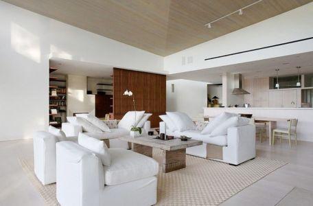 salon - Malibu House par Dutton Architects - Usa
