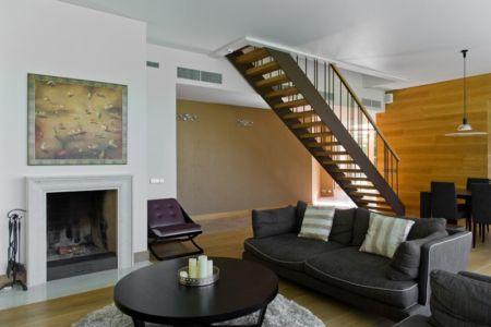 salon - Modern Family House par 4PLIUS Architects - Vilnius, Lituanie