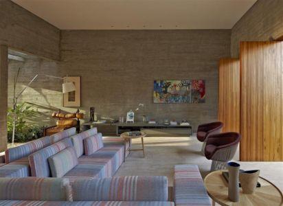 salon - Modern Residence par Anastasia Architects- Belo Horizonte, Brésil -Photo Jomar Bragança