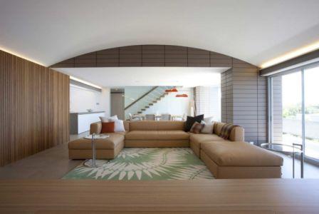 salon - Mosman house par Popov Bass Architects - Sydney,Australie - photo Kraig Carlstrom