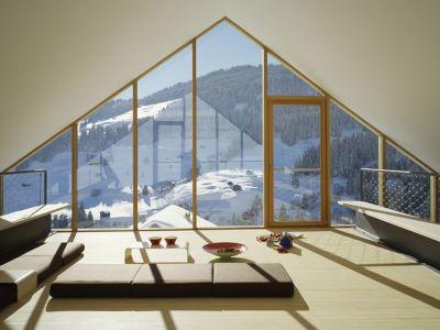 salon - Panix résidence par Drexler-Guinand-Jauslin architekten, Panex, Suisse