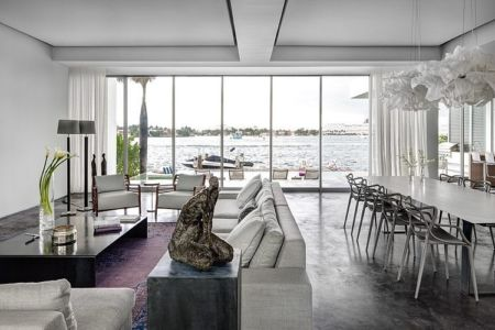 salon -- Peribere Residence par Max Strang Architecture - Biscayne Bay, Usa